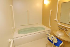 メディカル・リハビリホームボンセジュール草加 個室浴が全部で8か所ございますので、他の方に気兼ねせずご自分のペースで入浴することができます。