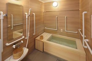くらら西馬込 檜の香りを楽しみながらご入浴いただけます。