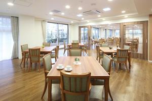 リハビリホームグランダ摂津本山 毎日のお食事や、アクティビティ等でご利用いただいている場所です。