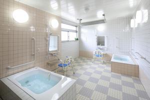 まどか南与野 ご入浴はすべて個室浴。他の方に気兼ねすることなく、ゆっくりとご入浴いただくことができます。