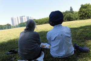 もえぎ西荻北 ピクニック 好天に恵まれた日には、ご希望者をお連れして公園でランチをする事も。
