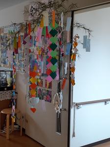 もえぎ中野白鷺 季節に合った装飾 ご入居者と一緒に作成しました