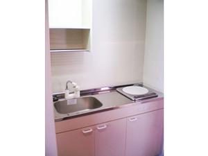 チャームスイート緑地公園 IHタイプのミニキッチンが設置されていますので、ちょっとした炊事が可能です。