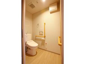 チャームスイート西宮浜 ウォシュレット・便座保温付きで使いやすい洋式トイレ。緊急時コールボタン・手すりも付いて安全です。